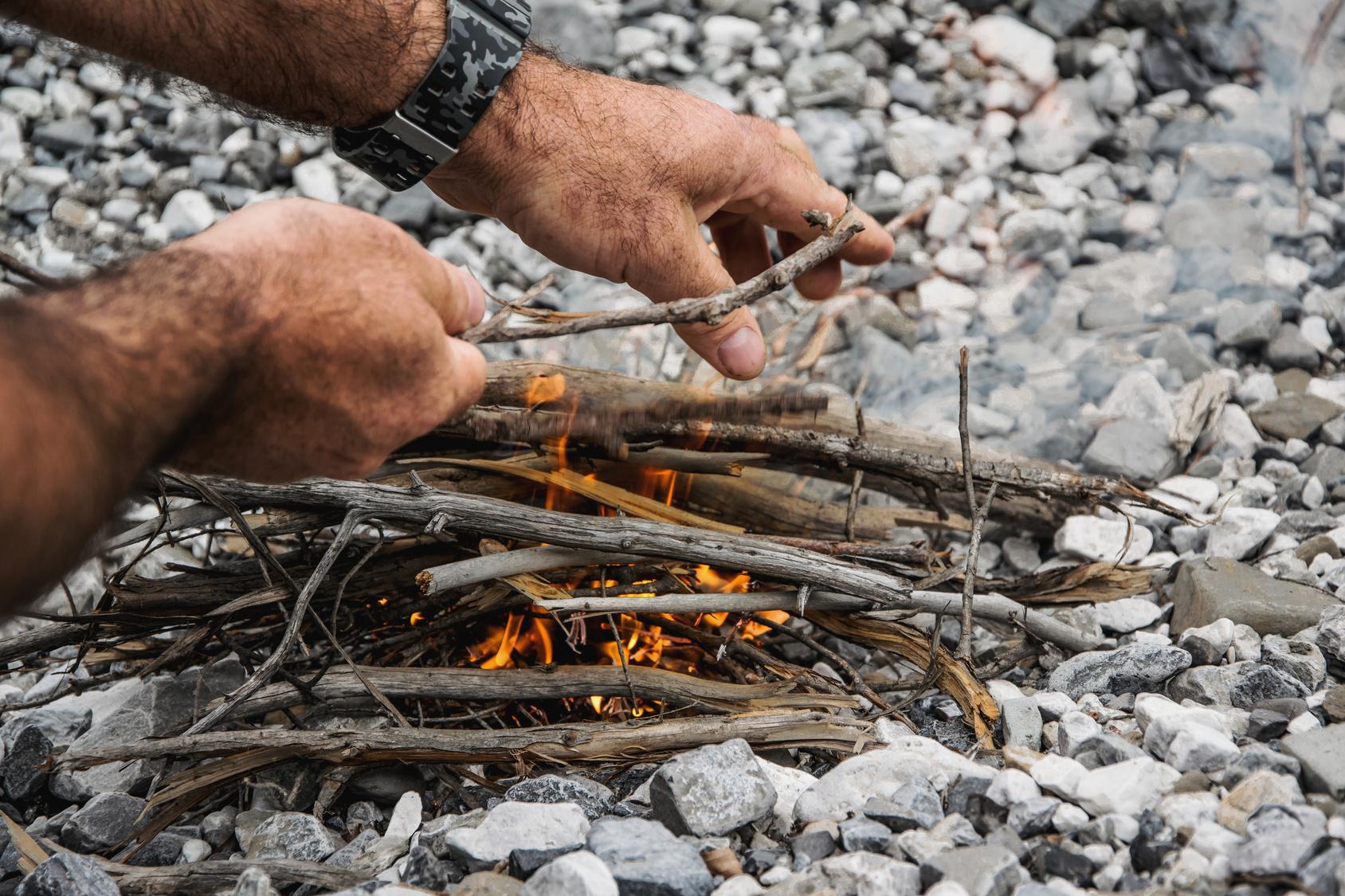 Make the fire