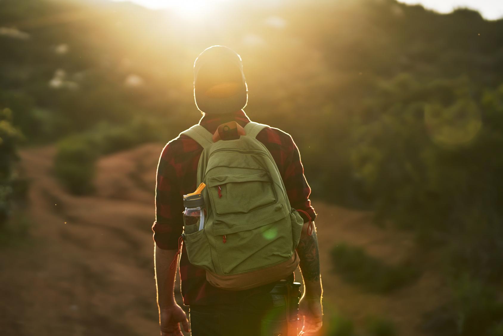 male millennial hiker