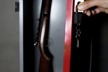 man opening a gun sage