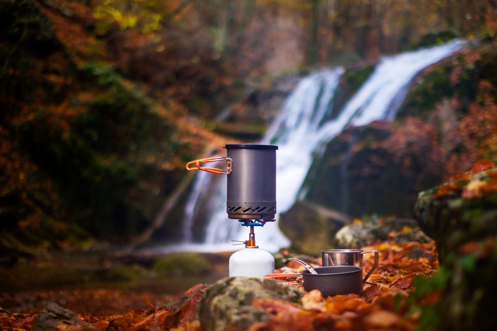 Cooking food in nature
