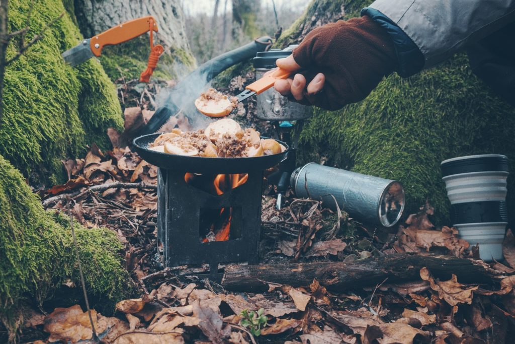 Cook on a hiking