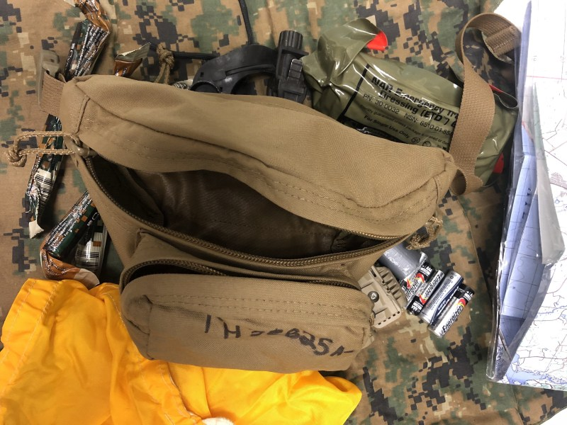 bag loaded with weapon
