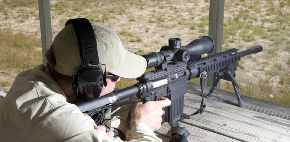 man at shooting practice