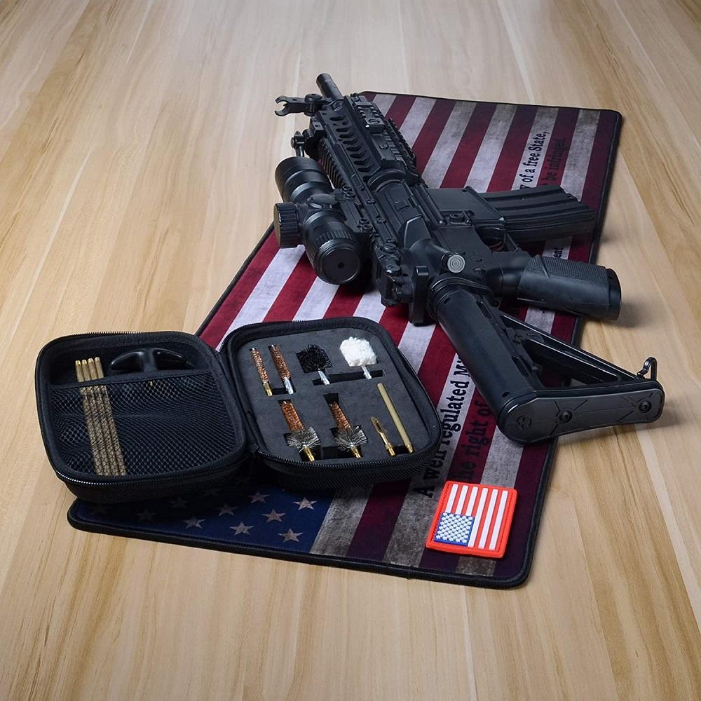 shot gun on a mat