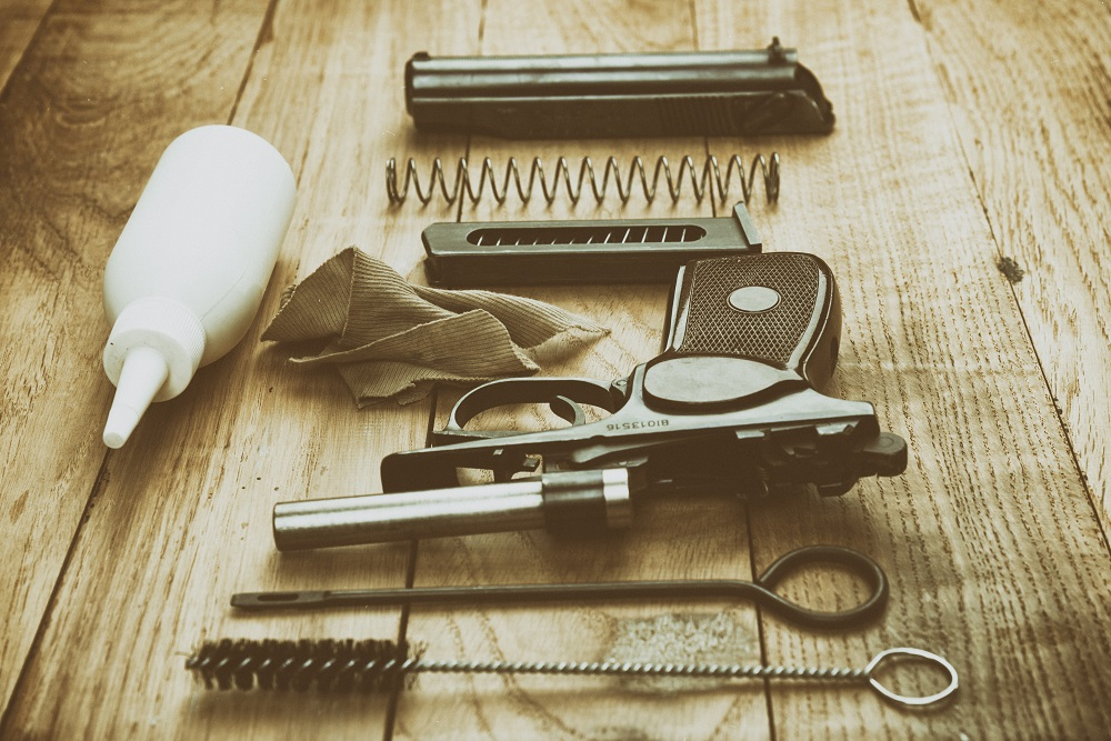 gun and cleaning accessories